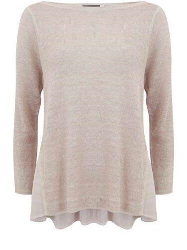 Chic Mint Velvet powder overdye pink boxy layered knit jumper size UK 8//10
