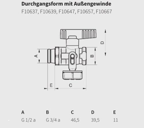 """Simplex KFE-Kugelhahn 1//2/"""" Füllhahn Entleerungshahn Heizung Solar Trinkwasser"""