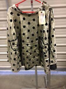Gold-Spotty-Rockabilly-Skirt-Medium
