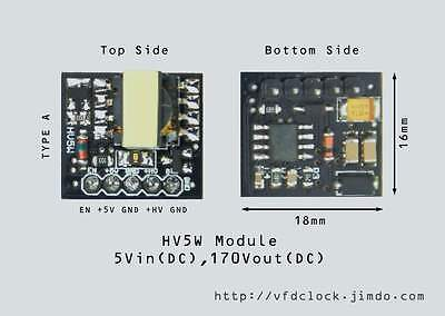 [Type A]-5Vin-170Vout-HV5W HIGH VOLTAGE NIXIE POWER SUPPLY MODULE