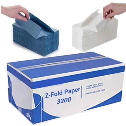 Papel de tejido blando Z Pliegue Interfold Toalla De Mano Azul Blanco 2 capas desechables