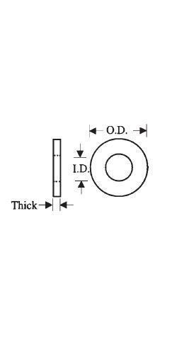 "#12 Washer 23//64/"" OD 1//32 thk Nylon Plastic Insulating Fastener C11343"