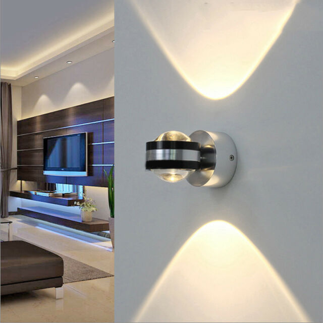 Led Indoor Wall Lamps 2w Modern Led Lamp Wall Light With 2 Lights For Home Lighting Wall Sconce