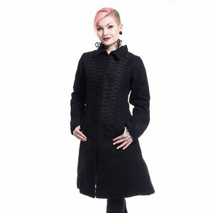 Punk Night Poizen Industries Coat Goth Emo Coats Dames Noire Parade zAqw5vq