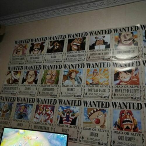 One Piece Character reward Wanted notice Anime Posters wallpaper decorate #24-47