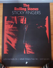 """ROLLING STONES """"Sticky Fingers"""" LA Fonda Theatre 2015 Litho numbered"""