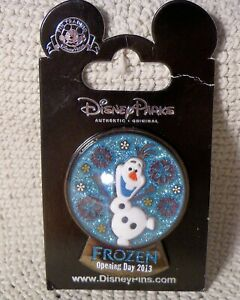 Disney-Parks-Pin-FROZEN-Opening-Day-2013-OLAF-in-Snowglobe-LE-2500