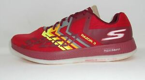 Skechers-Go-Run-Razor-3-Mens-Running-Shoes-Red-Orange-10-5-US-USED