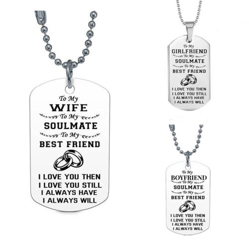 WR/_ JT/_ JN/_ Dog Tag Necklace Gifts for Girlfriend Boyfriend Wife and Husband Jew