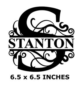 Details About Letter S Name Monogram Vinyl Decal Sticker For 8 Glass Block Diy Crafts Custom