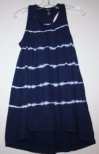 bd0daa89af17 Gap Kids NWT Girl s Navy Blue Tie Dye Racer Back Maxi Dress Hi Lo ...