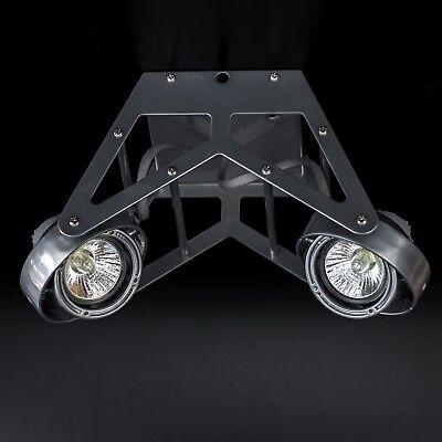 Deckenstrahler Wap 2-flammig Industrie Metalic Grau Decken Lampe Strahler Gu10 Hell In Farbe Büro & Schreibwaren Möbel & Wohnen