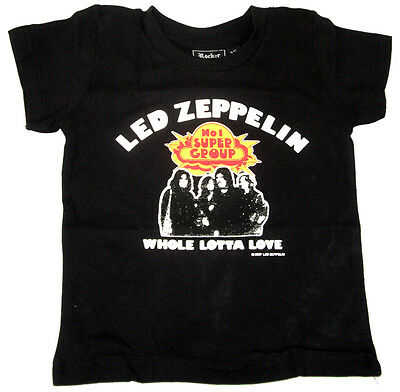 Led Zeppelin Rock Band Logo  BABY BODY+BIBS KURZARM //LANGARM//OHNE ARM VEST