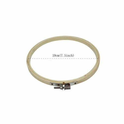 Bamboo Frame Embroidery Hoop Ring Needlecraft Cross Stitch Round Loop Sewing