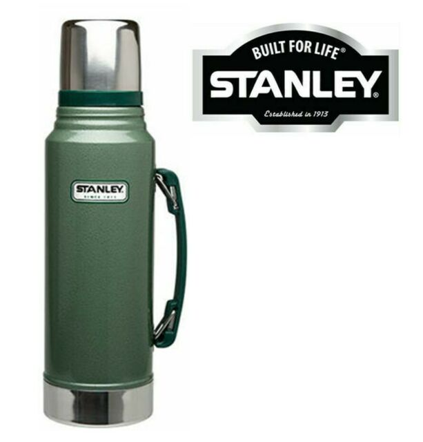 1.0 //1.4 //1.9L LITRE STANLEY DRINKS FLASK STAINLESS STEEL VACUUM BOTTLE THERMOS
