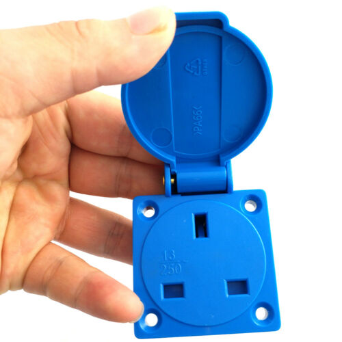 1* 13A 250V Waterproof Electrical Power Inlet UK Socket Outlet Connectors Useful