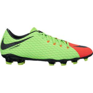 Nike Hypervenom Phelon III FG Soccer Shoe Mens 9.5 Electric Green ... f54f6b69d69b5