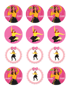24 WIGGLES EMMA Edible Cupcake Toppers Wafer Paper ...