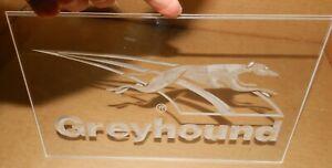 "Clear Plastic Greyhound Bus Sign, 7 1/16"" X 11.75"""