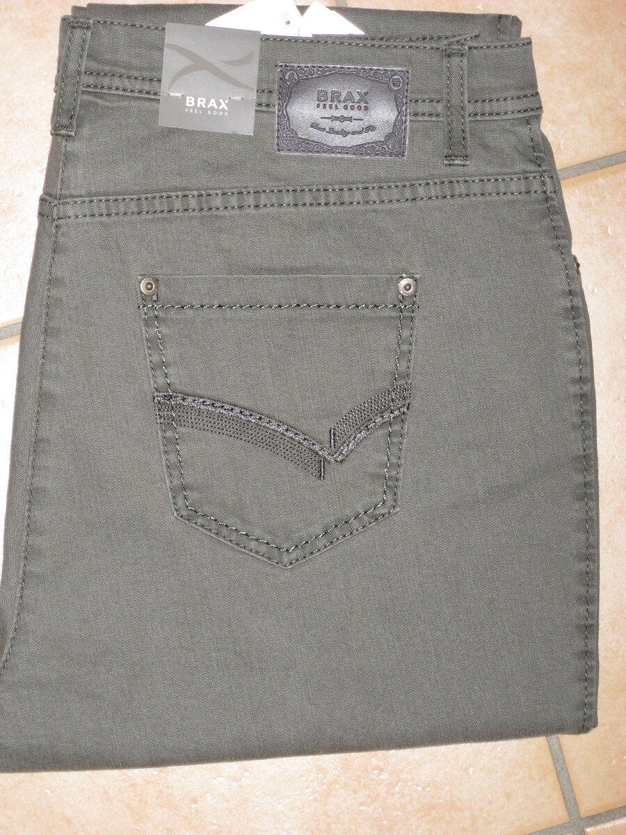 BRAX Jeans Stretchjeans Mary Glamour schilfgrün leichte Sommerware NEU