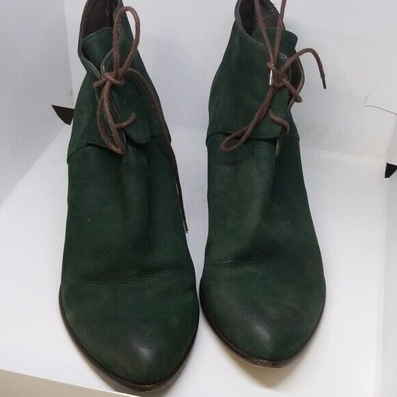 Audley London green suede lace booties 39