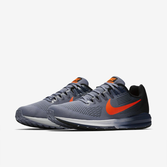 d8b35fa15c106 Nike Mens Air Zoom Structure 21 Running Shoes Dark Sky Blue Crimson Size 11