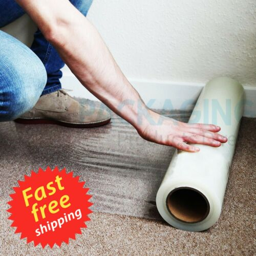 100M Carpet Floor Protection Self Adhesive Protector Clear Roll Cover Dust Film