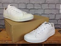 CONVERSE UNISEX WHITE LOW OX MONO ALL STAR CANVAS TRAINERS LOTS OF SIZES