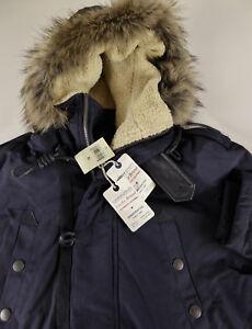 Navy Fur Lined Parka