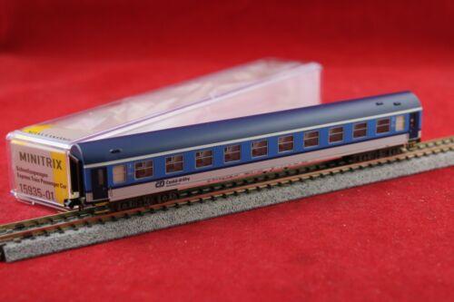 Minitrix 15935-01 CD Y-Schnellzugwagen 2.Klasse in blau//grau//NEU//OVP