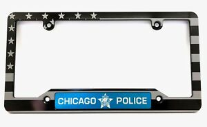 Blue PATRIOTIC American flag Anodized ALUMINUM Standard License Plate Tag Frame