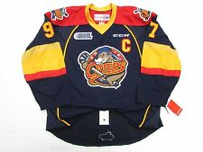 CONNOR McDAVID ERIE OTTERS AUTHENTIC NAVY CCM EDGE 2.0 7287 HOCKEY JERSEY