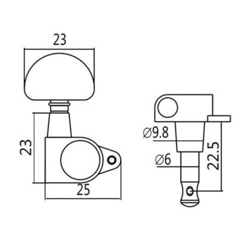 Musikinstrument E Gitarre Accs Tuner 3R3L Stimmwirbel Sealed Button