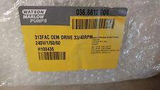 WATSON MARLOW 313FAC OEM DRIVE 33/40RPM 240V/1/50/60
