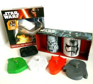 Star-Wars-Kitchen-Set-Cookie-Cutters-Toast-Stamp-Mugs-x2-amp-Melamine-Plates