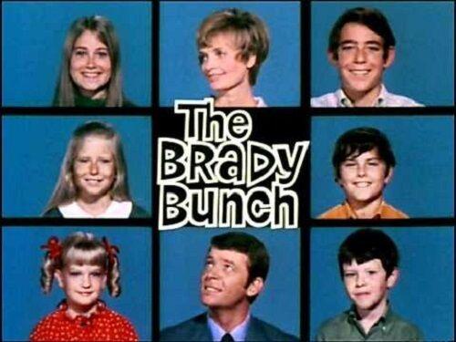 1970s The Brady Bunch TV Show logo magnet - new!