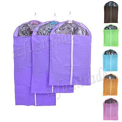 Clothing Hanging Storage Bag Suit Shirt Coat Pants Dress Gown Dustproof Cover