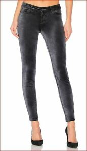 PAIGE  ULTRA-SKINNY PRINTED FLORAL STRETCH MICRO CORDUROYS JEANS PANTS black