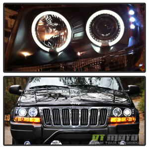 Image Is Loading Black 1999 2004 Jeep Grand Cherokee Led Dual
