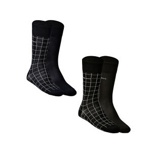 HUGO-BOSS-2er-Pack-Men-039-s-Socks-Two-Pack-Rs-39-46-Navy-or-Black