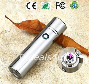 Dual-Arc-Electric-USB-Lighter-Rechargeable-Plasma-Windproof-Flameless-Cigar-Pipe
