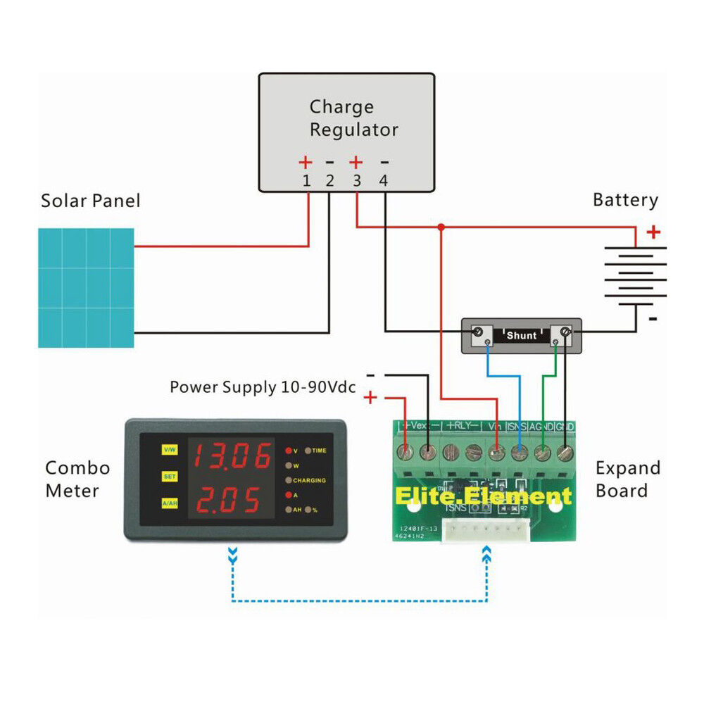 Dc 120v 500a Volt Current Ah Power Capacity Combo Meter Battery Sla Gel Charger Circuit With Monitor Function State Of Charge Ebay