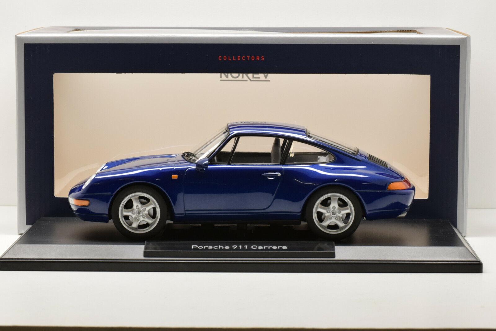 PORSCHE 911 (993) 1993 CARRERA blu METALLIC NOREV 1 18 NEUVE EN BOITE