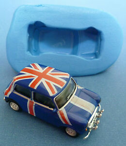 mini cooper wedding cake topper 3d 4cm mini cooper car silicone mould for cake toppers 17393