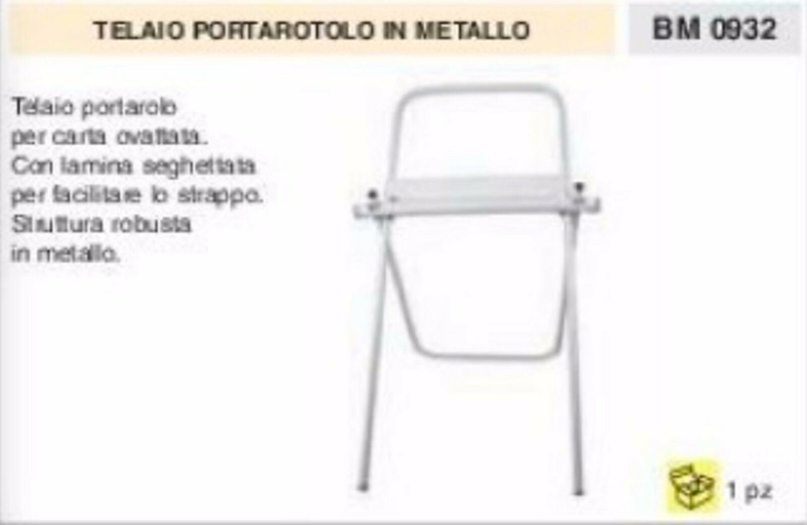 TELAIO PORTAredOLO CARTA OVATTATA porta redolone lamina seghettata OFFICINA