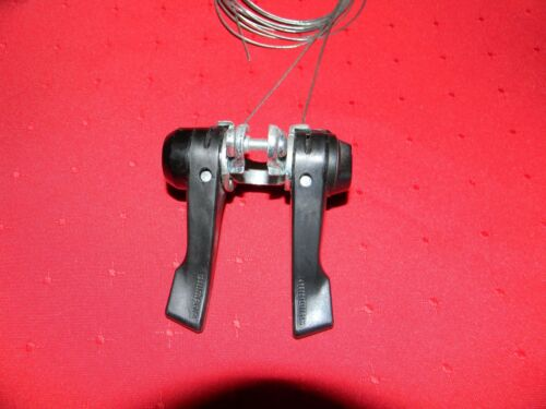 VINTAGE SHIMANO SIS SY20 6 SPEED DOUBLE SHIFTING LEVER WITH CABLES