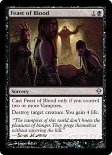 FEAST OF BLOOD Zendikar MTG Black Sorcery Vampire Unc