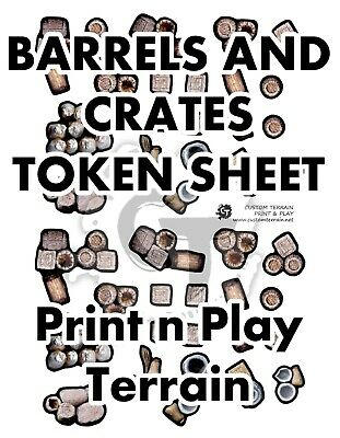 Barrels /& Crates Token Sheet DIGITAL DOWNLOAD D/&D RPG Dragons Dnd Pathfinder
