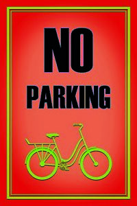 No-Parking-Bicycle-Bicycle-Tin-Sign-Shield-Arched-Tin-Sign-20-x-30-cm-CC1006