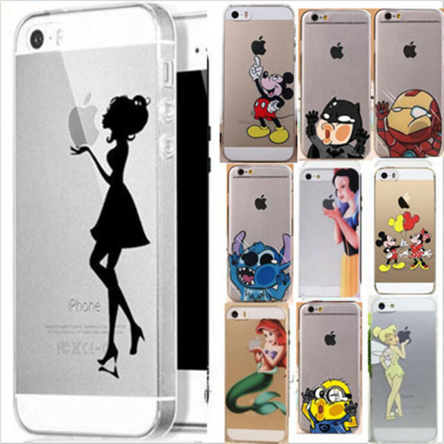 Ultra Thin Transparent Back Case Cover skin For iPhone 4S 5 5S 5C  6 & 6 plus